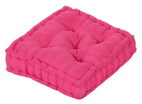 PLAIN HOT FUSHIA PINK COLOUR MICROFIBRE DINING / GARDEN CHAIR BOOSTER CUSHION SEAT PAD